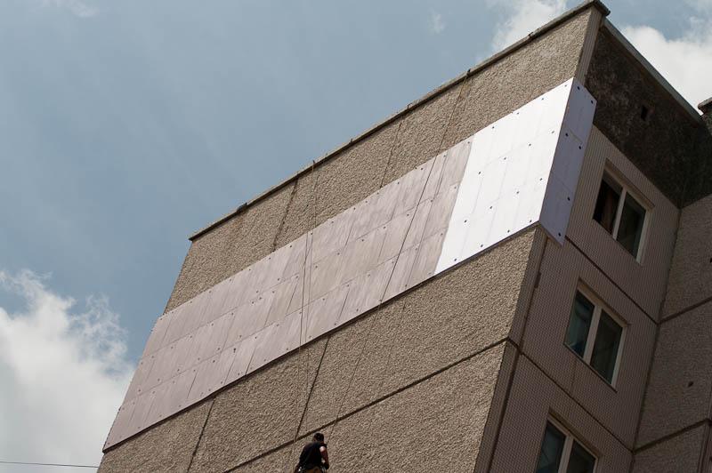 Утепление стен панельного дома снаружи