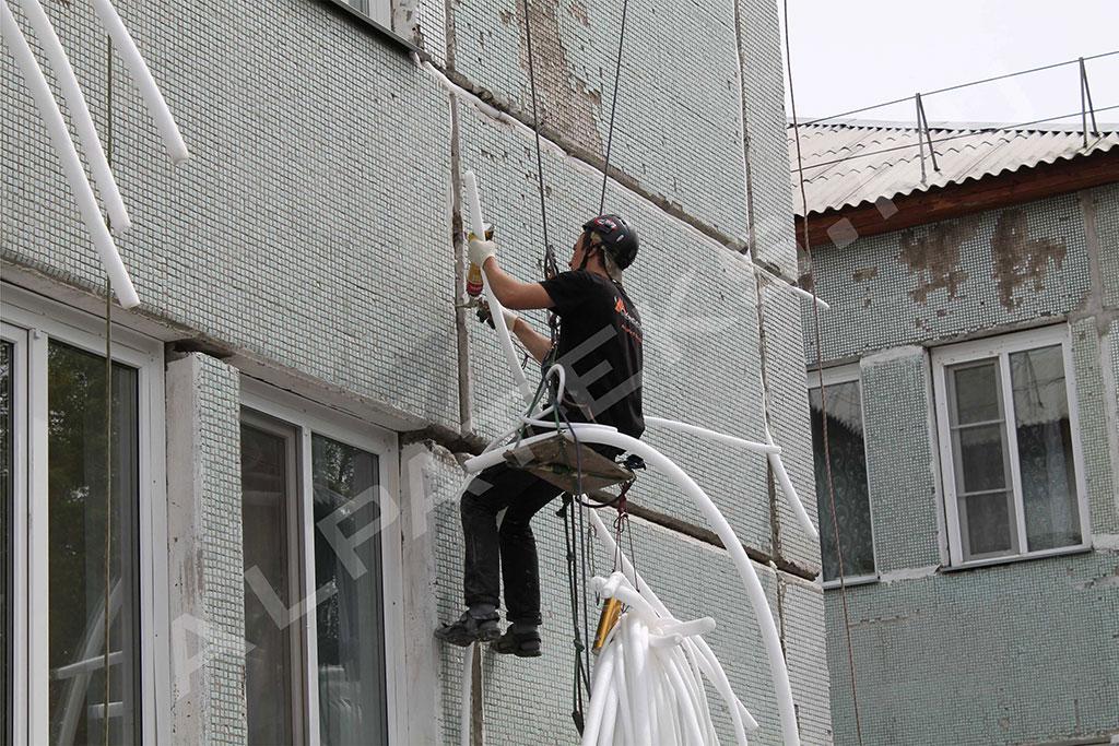 Внешнее утепление стен панельного дома цена